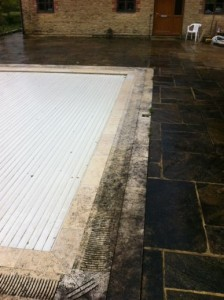 Swindon Stone Cleaning Swimming pool before Cleaning