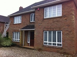Swindon Stone Cleaning, Wiltshire Brick House Before and After Cleaning