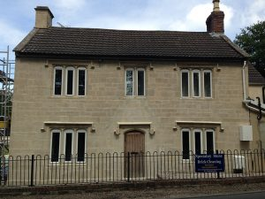 Swindon Stone Cleaning, Wiltshire stone house before cleaning